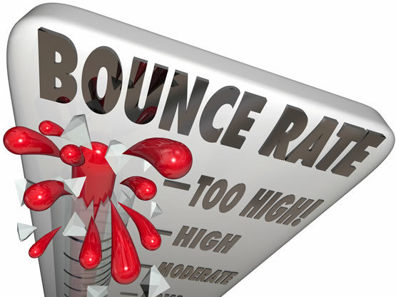 """Five """"Tricks"""" to lower your Bounce Rate."""