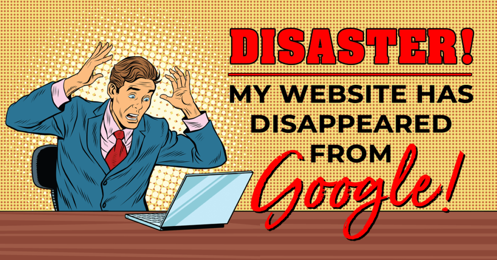 Disaster! My site has disappeared from Google!!