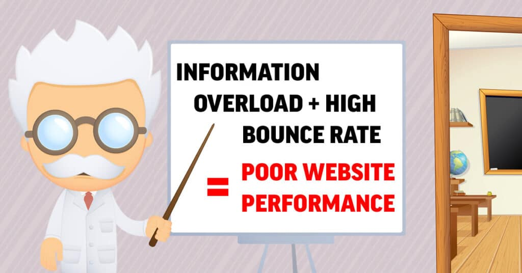 Information Overload + High Bounce Rate = Poor Website Performance