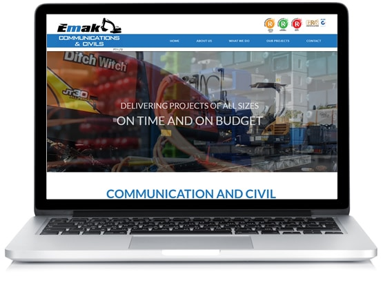 EMAK Communications and Civils - Townsville Web Design