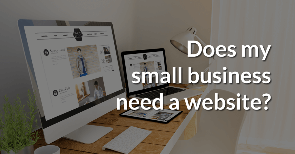 Does my small business really need a website?